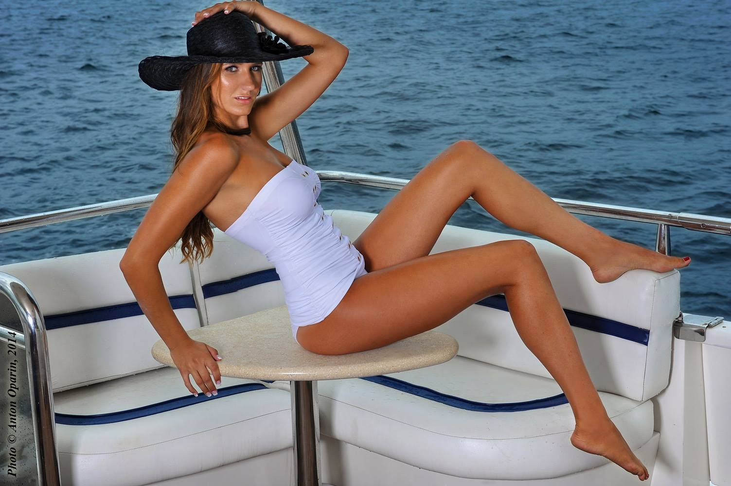 Fashion Editorial Swimsuit Photoshoot on the Luxury Boat
