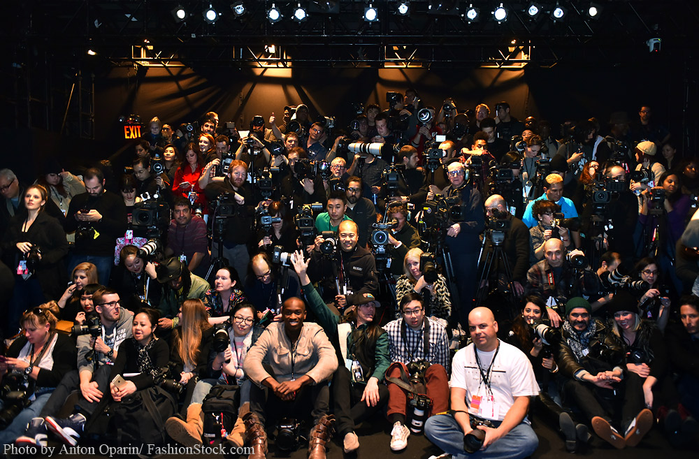 Photographers hard work during NY Fashion Week - FW15