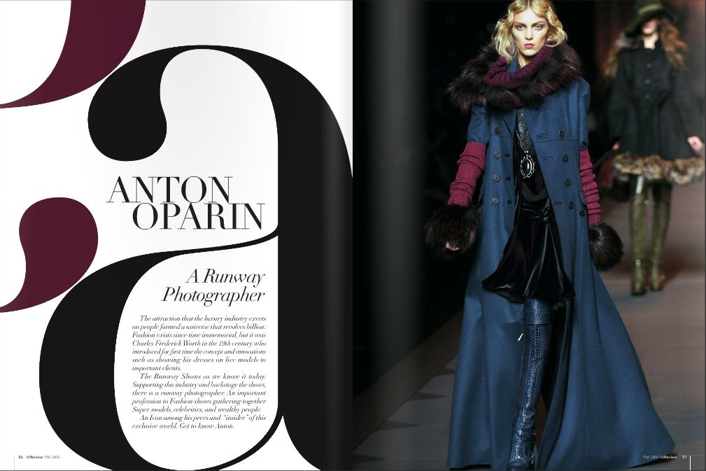 Interview with Anton Oparin @INREVIEW Magazine fall 2015