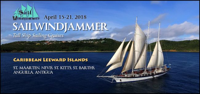 Adventure Travel Cruise with Models on Sail Windjammer to St. Maarten -> Antiqua